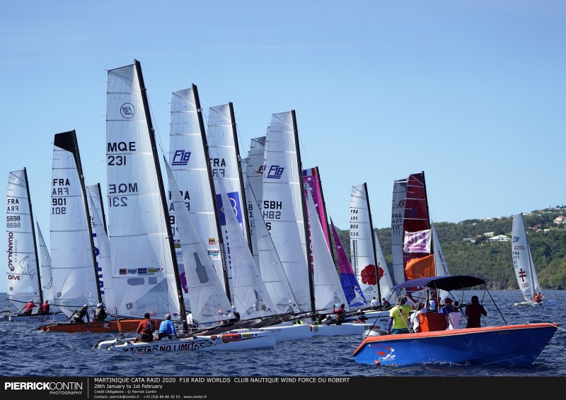 MARTINIQUE CATA RAID 2020  F18 RAID WORLDS  CLUB NAUTIQUE WIND F : 28th January to 1st February © Pierrick Contin