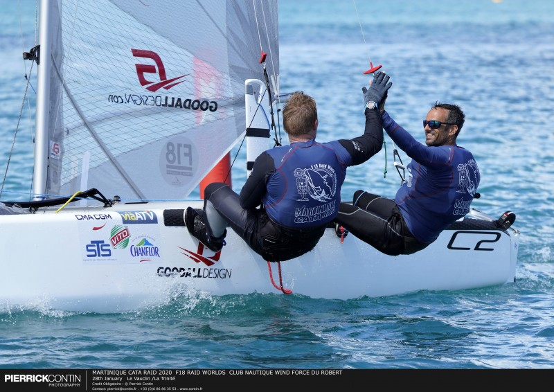 MARTINIQUE CATA RAID 2020  F18 RAID WORLDS  CLUB NAUTIQUE WIND F : 28th January   Le Vauclin /La Trinité © Pierrick Contin