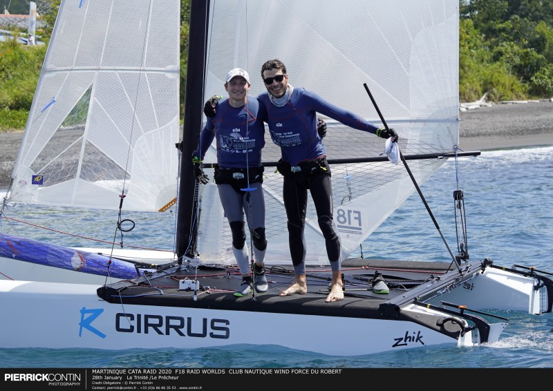 MARTINIQUE CATA RAID 2020  F18 RAID WORLDS  CLUB NAUTIQUE WIND F : 28th January   La Trinité /Le Précheur © Pierrick Contin